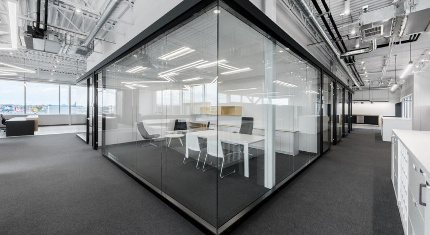 Architectural Walls in Black for Private Executive Office