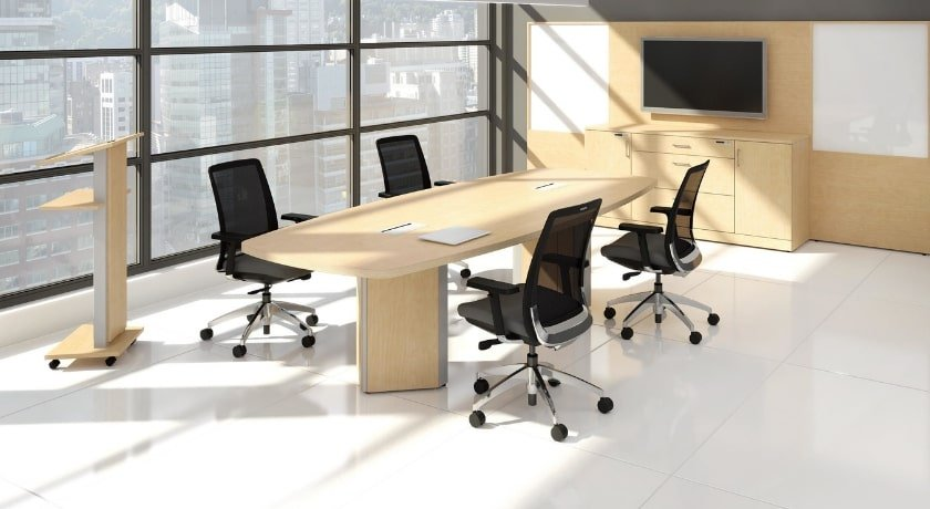 Artopex Conference Table with Triangle Base