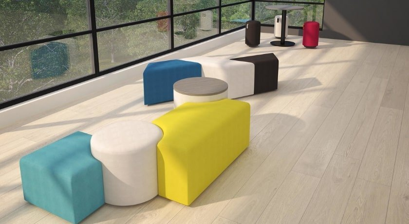 Custom collaboration seating by Artopex