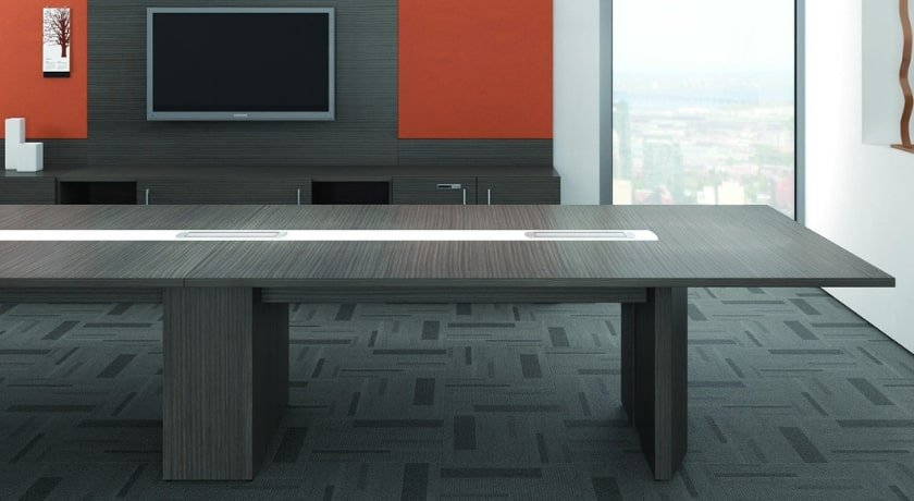Gray Zebra Conference Table Veneer