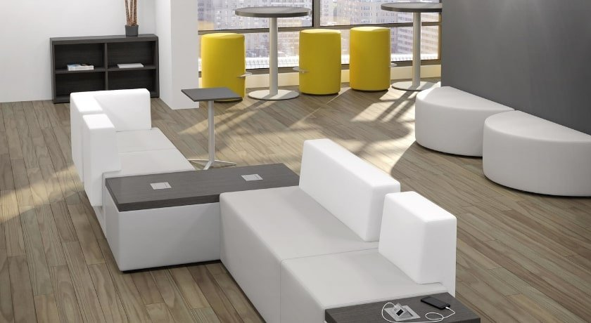 Lounge Seating with Power Modules by Artopex