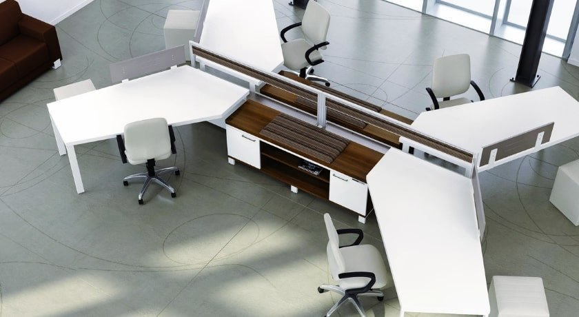 Open Space Design Benching System