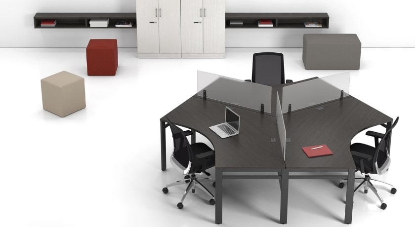 Open Space Desks with Arch