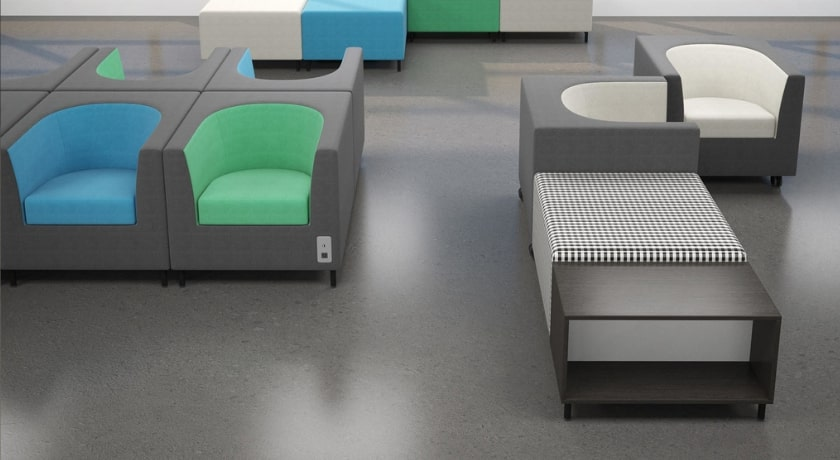 Waiting Room furniture with power modules by Artopex