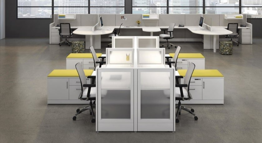 Workstations with credenza - Artopex
