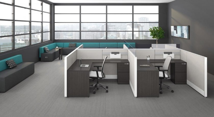 Workstations with privacy panels - Artopex