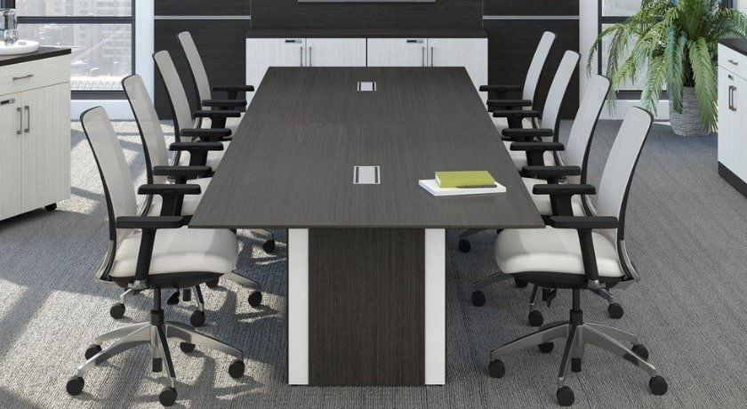 Zebra Conference Table with Power Modules